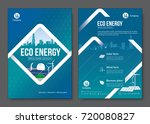 eco energy brochure design.... | Shutterstock .eps vector #720080827
