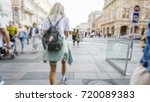 crowd of anonymous people... | Shutterstock . vector #720089383