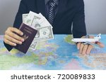 thailand passport in hand man... | Shutterstock . vector #720089833