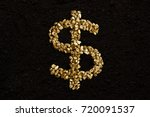 dollar sign from golden nuggets ... | Shutterstock . vector #720091537