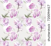 violet pattern for textile | Shutterstock . vector #720094417