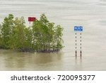 waterway signs on the bank in... | Shutterstock . vector #720095377
