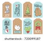 christmas holiday gift tags ...   Shutterstock .eps vector #720099187