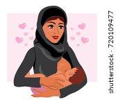 muslim mother in national... | Shutterstock .eps vector #720109477