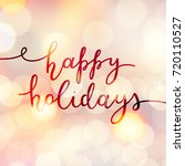happy holidays lettering ...   Shutterstock .eps vector #720110527