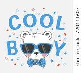 cool little bear boy with... | Shutterstock .eps vector #720111607