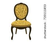 yellow chair. vector... | Shutterstock .eps vector #720111853