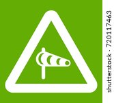 sign warning about cross wind... | Shutterstock .eps vector #720117463