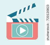 play video button on... | Shutterstock .eps vector #720120823