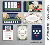 set of loyalty cards. japanese... | Shutterstock .eps vector #720122593