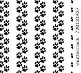 cat trace pattern background ... | Shutterstock .eps vector #720131437