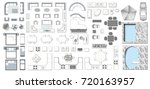 set top view for interior icon  ... | Shutterstock .eps vector #720163957