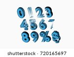 font. the digits are from 0 to... | Shutterstock . vector #720165697