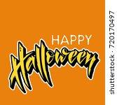 happy halloween vector... | Shutterstock .eps vector #720170497
