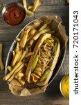 homemade chicago style polish... | Shutterstock . vector #720171043