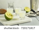 boozy lime  and vodka kamikaze...   Shutterstock . vector #720171817