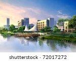3d render of a building | Shutterstock . vector #72017272