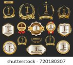 anniversary golden laurel... | Shutterstock .eps vector #720180307