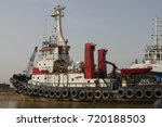 a ship on shatt al arab  border ... | Shutterstock . vector #720188503