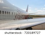 the tail part of the aircraft.... | Shutterstock . vector #720189727