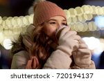 winter holidays  hot drinks and ... | Shutterstock . vector #720194137