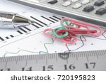 business background with graph  ... | Shutterstock . vector #720195823