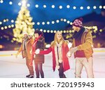 christmas  winter and leisure... | Shutterstock . vector #720195943