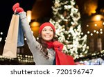 winter holidays  sale and... | Shutterstock . vector #720196747