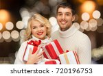 christmas  holidays and new... | Shutterstock . vector #720196753