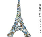 collage of travel photos  ... | Shutterstock . vector #720198157