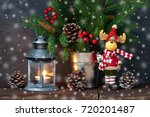 christmas composition with... | Shutterstock . vector #720201487