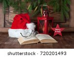 christmas composition with... | Shutterstock . vector #720201493