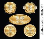 premium set of anniversary...   Shutterstock .eps vector #720207157