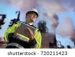 construction engineer against... | Shutterstock . vector #720211423
