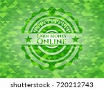 earn money online green emblem...