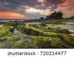 """""""tanah lot"""" is a rock formation ... 