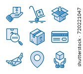 delivery icon set | Shutterstock .eps vector #720221047