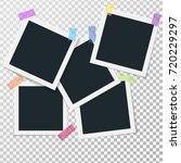 set of square vector photo... | Shutterstock .eps vector #720229297