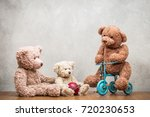 retro teddy bear toys family ...   Shutterstock . vector #720230653