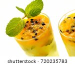 drink passion fruit yellow...   Shutterstock . vector #720235783