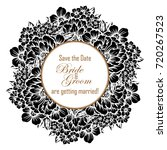 invitation with floral... | Shutterstock . vector #720267523