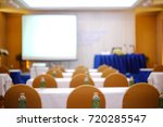 Small photo of Blur of meeting room, conference room, Telepresent.