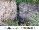 spahats falls. wells gray...   Shutterstock . vector #720287023
