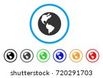earth rounded icon. style is a...   Shutterstock .eps vector #720291703