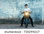handsome young men with black...   Shutterstock . vector #720294217