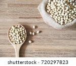 navy bean or white bean in... | Shutterstock . vector #720297823