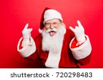 Stock photo it s party time holly jolly swag x mas and noel cool funny playful naughty grandfather with 720298483
