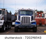powerful heavy duty semi trucks ... | Shutterstock . vector #720298543