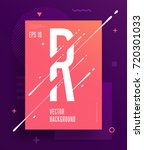 cool abstract alphabet poster... | Shutterstock .eps vector #720301033