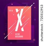 cool abstract alphabet poster... | Shutterstock .eps vector #720312913